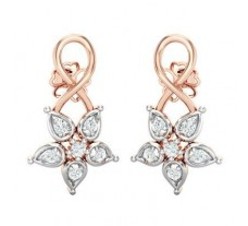 Natural Diamond Earrings 0.25 CT / 2.98 gm Gold