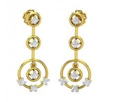 Natural Diamond Earrings 0.36 CT / 4.54 gm Gold