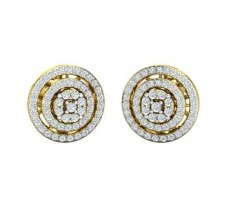 Natural Diamond Earrings 1.01 CT / 7.25 gm Gold