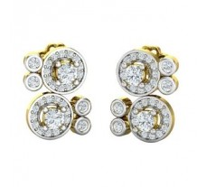 Natural Diamond Earrings 0.86 CT / 4.48 gm Gold