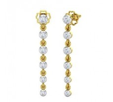 Natural Diamond Earrings 0.406 CT / 2.40 gm Gold