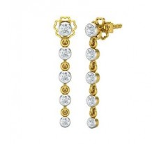 Natural Diamond Earrings 0.366 CT / 2.23 gm Gold