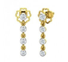 Natural Diamond Earrings 0.32 CT / 2.04 gm Gold