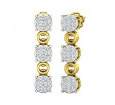 Natural Diamond Earrings 0.66 CT / 4.83 gm Gold