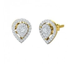 Natural Diamond Earrings 0.74 CT / 3.39 gm Gold