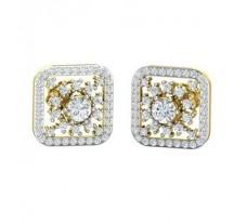 Natural Diamond Earrings 0.96 CT / 4.90 gm Gold