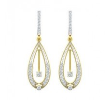 Natural Diamond Earrings 0.62 CT / 5.65 gm Gold