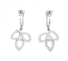 Natural Diamond Earrings 0.84 CT / 4.50 gm Gold