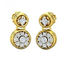 Natural Diamond Earrings 0.40 CT / 4.12 gm Gold
