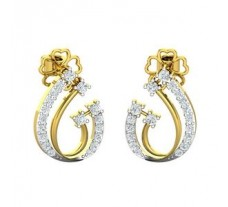Natural Diamond Earrings 0.448 CT / 3.42 gm Gold