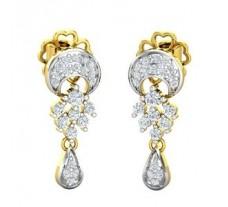 Natural Diamond Earrings 0.34 CT / 3.36 gm Gold