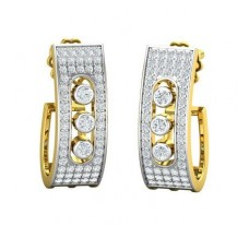 Natural Diamond Earrings 0.82 CT / 7.61 gm Gold