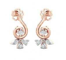 Natural Diamond Earrings 0.19 CT / 2.40 gm Gold