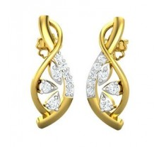 Natural Diamond Earrings 0.36 CT / 3.91 gm Gold