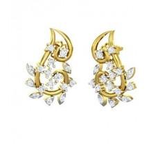 Natural Diamond Earrings 0.53 CT / 4.00 gm Gold