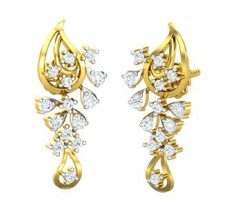 Natural Diamond Earrings 0.45 CT / 3.68  gm Gold