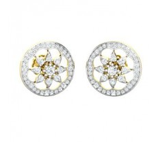 Natural Diamond Earrings 0.77 CT / 4.00 gm Gold