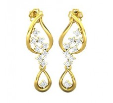 Natural Diamond Earrings 0.41 CT / 3.15 gm Gold