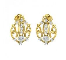 Natural Diamond Earrings 0.46 CT / 4.51 gm Gold