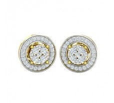Natural Diamond Earrings 0.53 CT / 3.62 gm Gold