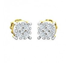 Natural Diamond Earrings 0.30 CT / 2.34 gm Gold