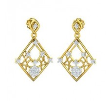 Natural Diamond Earrings 0.32 CT / 4.00 gm Gold