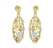 Natural Diamond Earrings 0.60 CT / 4.00 gm Gold