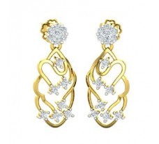 Natural Diamond Earrings 0.37 CT / 3.63 gm Gold