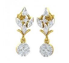 Natural Diamond Earrings 0.52 CT / 3.18 gm Gold