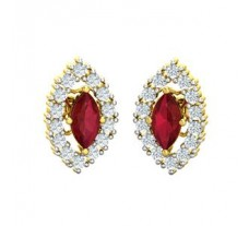 Diamond & Gemstone Gold Earring