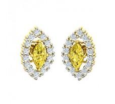 Natural Diamond & Gemstone Earring 1.16 CT / 2.80 gm Gold