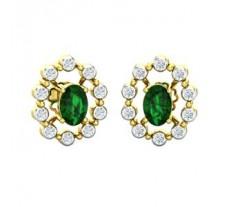 Natural Diamond & Gemstone Earring 1.48 CT / 3.54 gm Gold