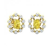 Diamond & Gemstone Gold Earring