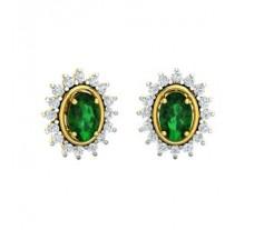 Natural Diamond & Gemstone Earring 1.56 CT / 4.00 gm Gold