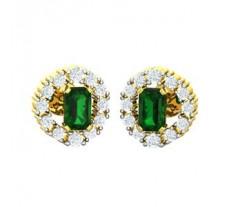 Natural Diamond & Gemstone Earring 1.14 CT / 3.18 gm Gold