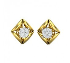 Natural Diamond Earrings 0.30 CT / 4.10 gm Gold