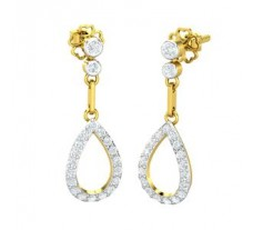 Natural Diamond Earrings 0.46 CT / 2.39 gm Gold