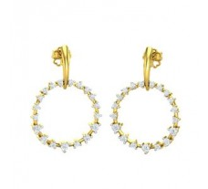 Diamond Earrings 0.57 CT / 3.40 gm Gold