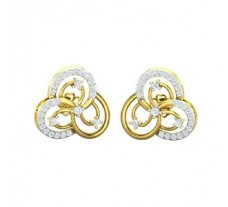 Natural Diamond Earrings 0.52 CT / 4.30 gm Gold