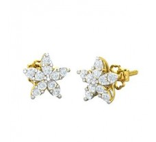 Natural Diamond Earrings 0.50 CT / 2.25 gm Gold