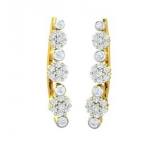Natural Diamond Earrings 0.54 CT / 2.50 gm Gold