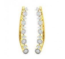 Natural Diamond Earrings 0.31 CT / 2.03 gm Gold