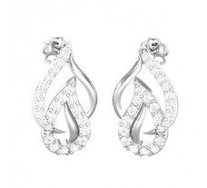 Natural Diamond Earrings 0.48 CT / 2.70 gm Gold