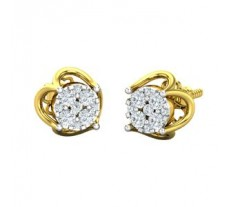 Natural Diamond Earrings 0.30 CT / 2.70 gm Gold