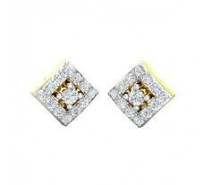 Natural Diamond Earrings 0.46 CT / 2.50 gm Gold