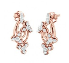 Diamond Earrings 0.38 CT / 3.80 gm Gold
