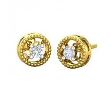 Natural Diamond Earrings 0.14 CT / 3.00 gm Gold