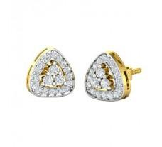 Natural Diamond Earrings 0.43 CT / 2.35 gm Gold