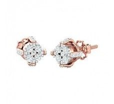 Natural Diamond Earrings 0.46 CT / 2.80 gm Gold