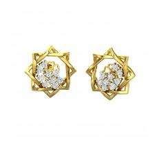 Natural Diamond Earrings 0.36 CT / 4.00 gm Gold